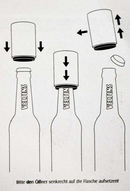 Veltins flaschenöffner push up